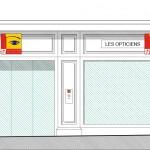 Façade principale projet Centre Optique Mutualiste