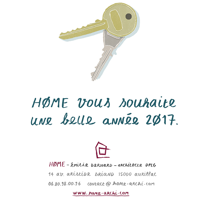 Carte de vœux home 2017